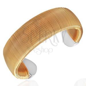 Acél mandzsetta karkötő - arany színű, tekert