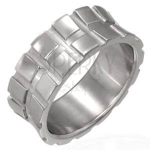 Sebészeti acél gyűrű - kis négyzetek