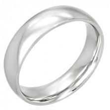 Sebészeti acél karikagyűrű - fényes, ívelt, 6 mm