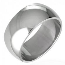 Sebészeti acél karikagyűrű - fényes, ívelt, 8 mm