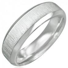 Sebészeti acél gyűrű - csiszolt matt öv