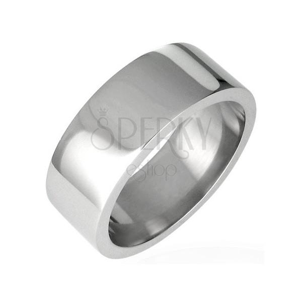 Nemesacél gyűrű - fényes egyenes felület, 8 mm