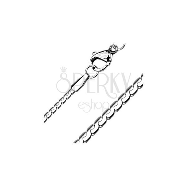 Lapos acél lánc - tagolt kígyó 1,5 mm