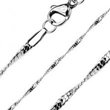 Vékony acél nyaklánc - tekert mintázat, 2 mm