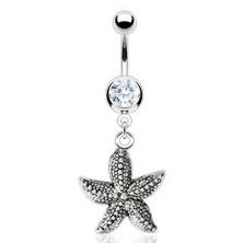 Vintage köldök piercing - tengeri csillag