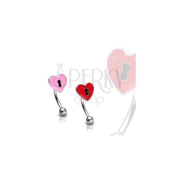 Szemöldök piercing - szív és kulcslyuk