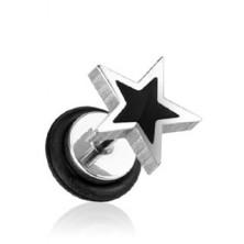 Fake plug - fekete és ezüst csillag