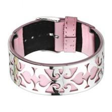Karperec, rózsaszín bőr és acéldísz