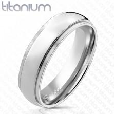 Titánium karikagyűrű alacsonyabb szélső sávokkal