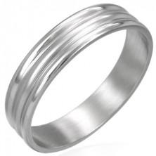 Gyűrű sebészeti acélból - hullámos felület