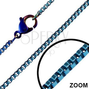 Anodizált nyaklánc nemesacélból - kék 1,5 mm