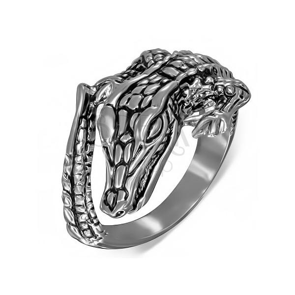 Gyűrű sebészeti acélból - krokodíl