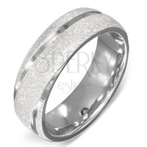 Karikagyűrű acélból - szemcsés felület, bemart fényes vonalak