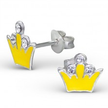 Ezüst 925 fülbevaló - királyi korona