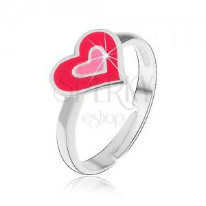 Gyermek gyűrű, ezüst 925 - szerelmes szívek