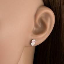 Sterling ezüst 925 fülbevaló - kis bagoly