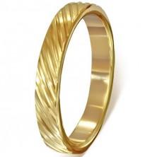 Aranyozott orvosi fém gyűrű - átlós bevágások