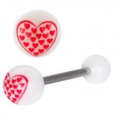 Piercing a nyelvbe - szívbe zárt szívecskék