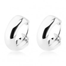 Ezüst fülbevaló - egyszerű sima karika, 12 mm