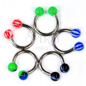 Patkó piercing - különféle színek és minták