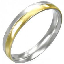 Ezüst - arany színű gyűrű acélból