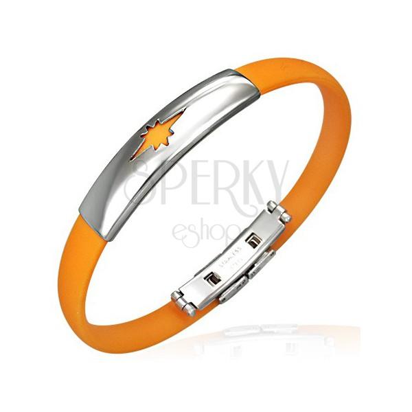 Narancssárga kaucsuk csuklópánt, csillag