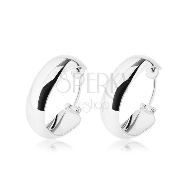 Ezüst fülbevaló - karikák üreges belső résszel, 20 mm