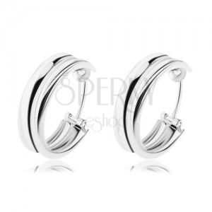 Ezüst 925 fülbevaló - két gyűrűből álló karika