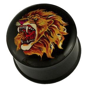 Fültágító plug - oroszlánfej