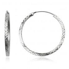 Fülbevaló ezüstből 925 - rombusz motívum, 35 mm