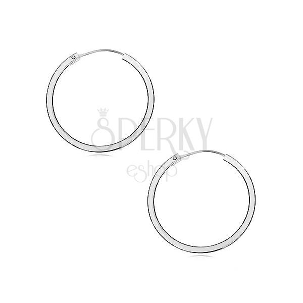 Fülbevaló ezüstből 925 - szögletes szélű karika, 30 mm
