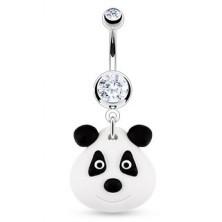 Köldök piercing - FIMO panda