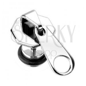 Hamis fültágító - 316L acél cipzár
