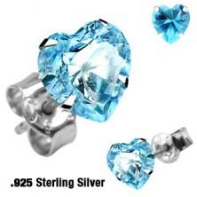 Szívecske fülbevaló ezüstből 925 - többféle színben