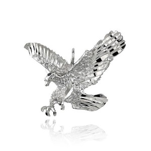 Ezüst 925 medál - csillogó támadó sas