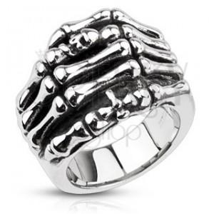 Gyűrű minőségi acélból - csontváz kéz