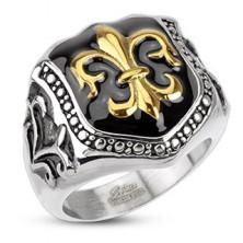 Pecsétgyűrű sebészeti acélból - királyi címer