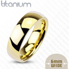 Aranyozott titánium karikagyűrű, 6 mm