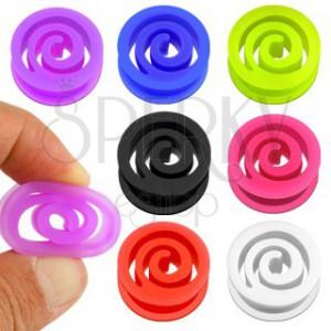 Fültágító plug rugalmas anyagból - spirál forma, többféle szín