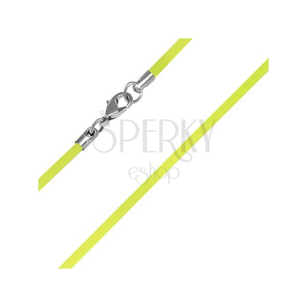 Műanyag nyaklánc alap - neonsárga, 2 mm
