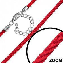 Piros színű nylon zsinór, nyaklánc
