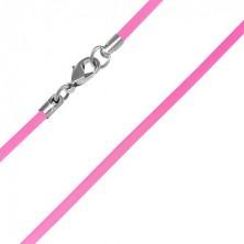 Műanyag nyakláncalap - neonrózsaszín, 2 mm