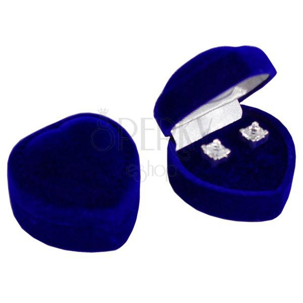 Szív alakú ajándékdoboz - sötétkék zamat bevonat