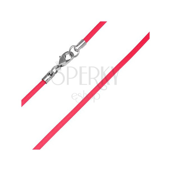 PVC nyakláncalap - piros, 2 mm