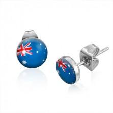 Bedugós acél fülbevaló - ausztrál zászló