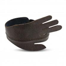 Hajlítható bőr karkötő - megnyújtott mutatóujjú kéz alakban