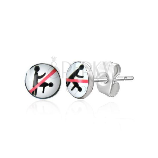 Bedugós acél fülbevaló - tiltott szexuális pozíció