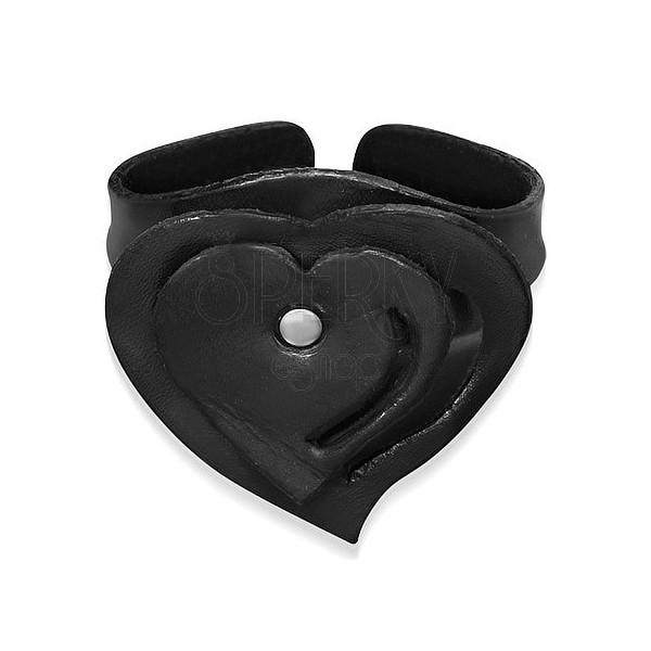 Rétegezett szív alakú hajlítható csuklópánt, fekete