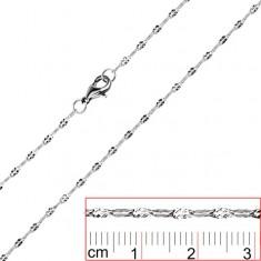 Nyaklánc orvosi acélból - lapított szemek X alakú bevágással
