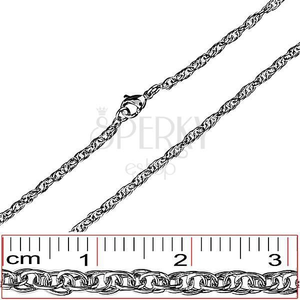 Nemesacél nyaklánc - sűrűn fonott ovális láncszemek